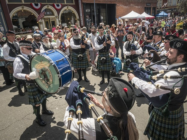 The Humboldt Highlanders in Old Town on 4th of July, 2016. - FILE PHOTO
