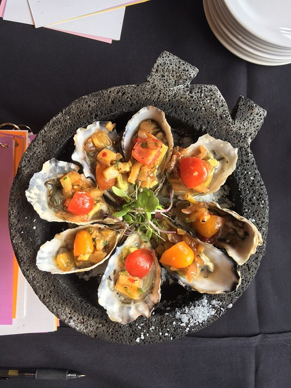 Savory Grill and Cafe's winning oysters. - JENNIFER FUMIKO CAHILL