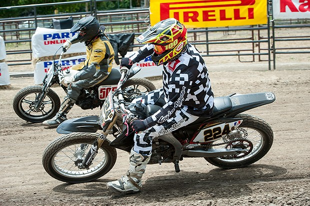 Lost Coast Flat Track racing - PHOTO BY MARK MCKENNA