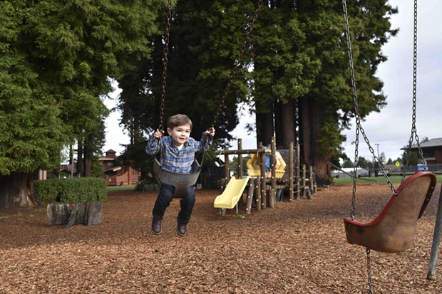 A little man enjoying Humboldt's Best Place for a Birthday Party. - PHOTO BY DREW HYLAND