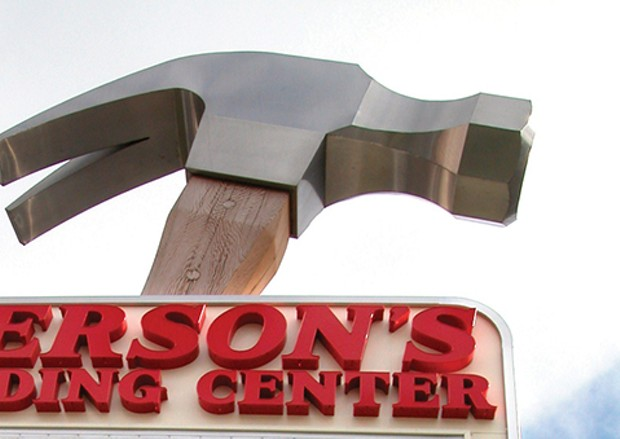 The Big Hammer at Pierson's. - COURTESY OF PIERSON'S BUILDING CENTER