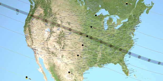 The path of the Aug. 21 total solar eclipse. - NASA