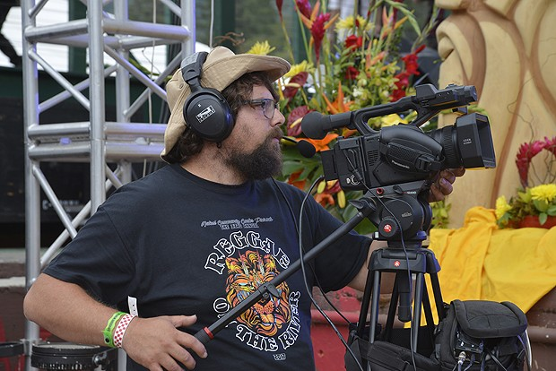 A camera operator at work during Marla Brown's set on Sunday afternoon. - PHOTO BY ERICA BOTKIN