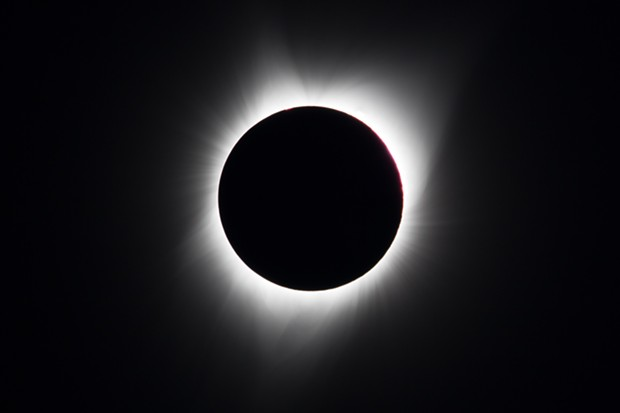 The eclipse at 10:23:10 a.m. - PHOTO BY ANTHONY WESTKAMPER