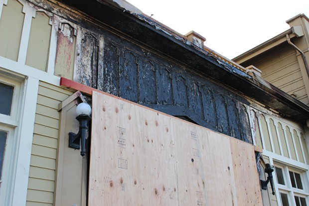 Arcata police are still trying to figure out who set the Sept. 16 fire at the Arcata Presbyterian Church and why. - THADEUS GREENSON