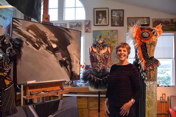 Micki Dyson Flatmo in her studio. - JENNIFER FUMIKO CAHILL