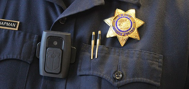 The Arcata Police Department will soon fully deploy body cameras. Who gets to see the footage remains to be seen. - THADEUS GREENSON