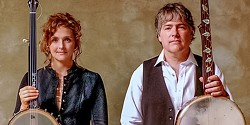 Bela Fleck (right) and Abigail Washburn play the Van Duzer Theatre on Wednesday, Nov. 29 at 7 p.m. - COURTESY OF THE ARTISTS
