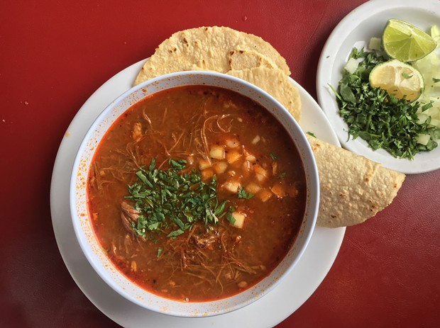 All-day goat birria. - PHOTO BY JENNIFER FUMIKO CAHILL