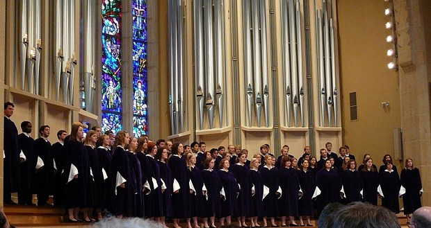 St. Olaf Choir singing in Boe Chapel, St. Olaf College - BY RUDOLFDIESEL