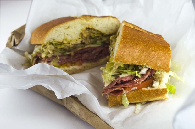 Open your mind to pastrami on your Italian sub. - PHOTO BY AMY WALDRIP