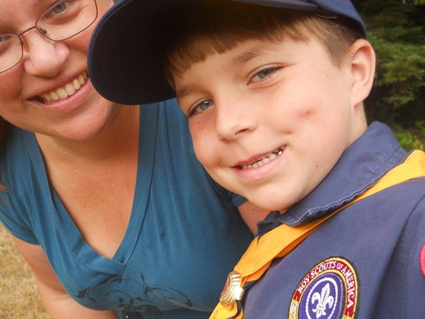 Noah and his mom, Megan Tyler. - SUBMITTED