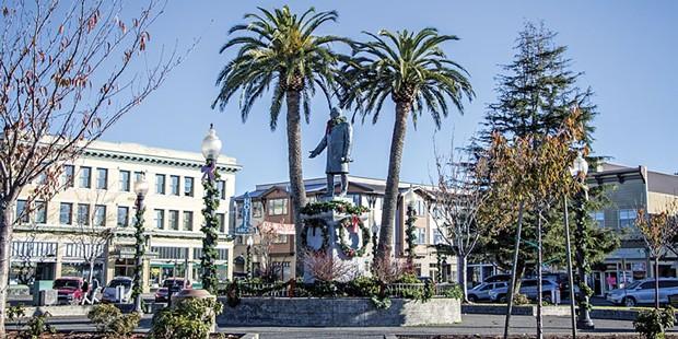The statue of President William McKinley. - FILE