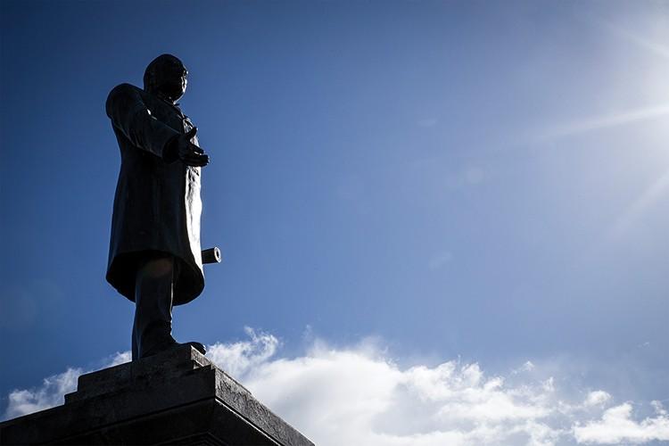 The McKinley statue on Arcata Plaza. - PHOTO BY SAM ARMANINO