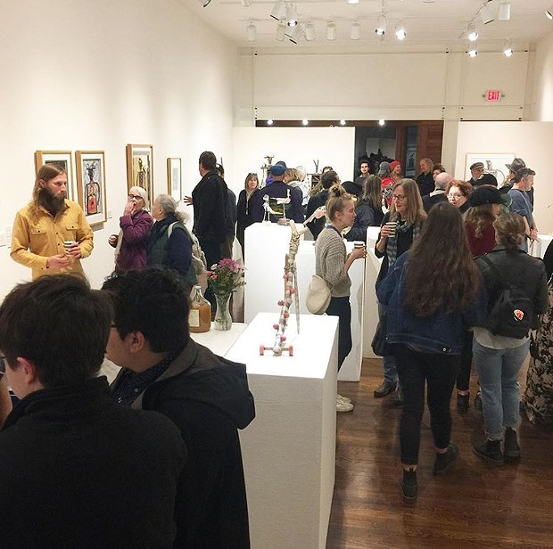 A shot of the crowd at the opening of Keith Schneider's show at HSU's Third Street Gallery on Saturday night. - FROM HSU THIRD STREET GALLERY'S INSTAGRAM