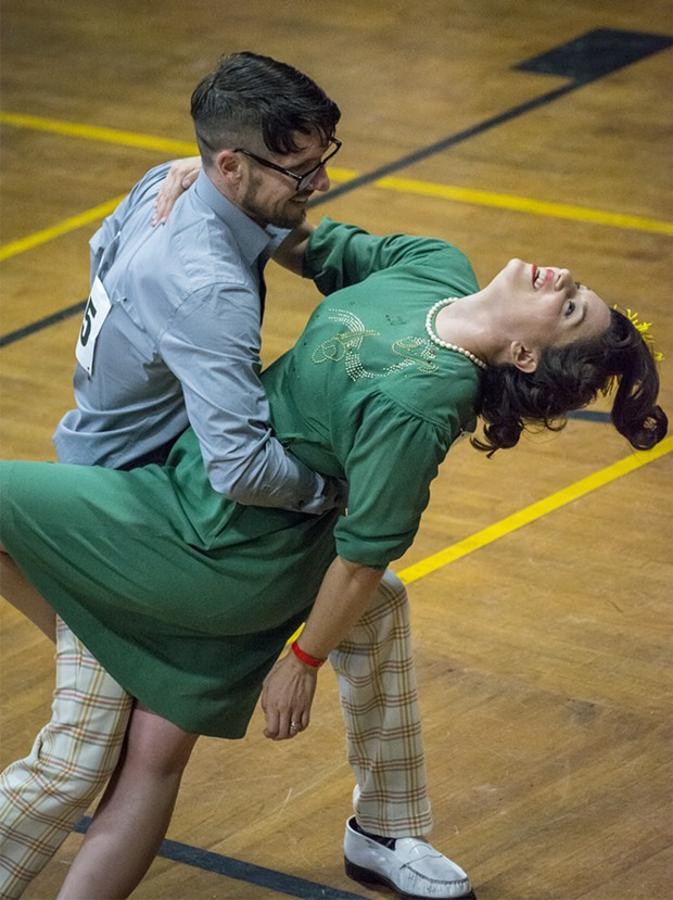 Dipping into the Jack & Jill dance competition. - PHOTO BY MARK LARSON