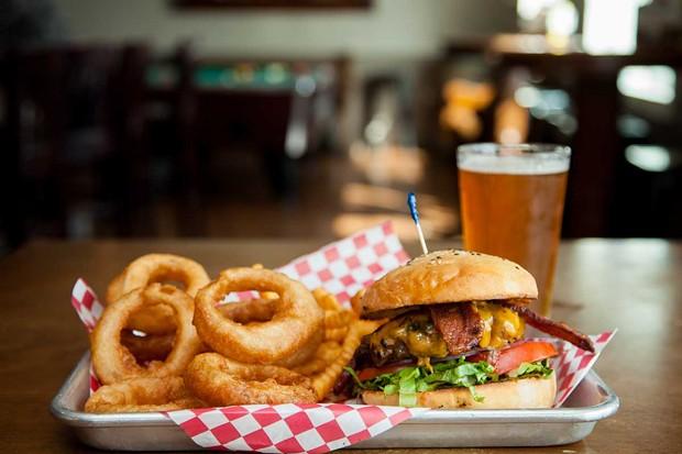 Bacon cheeseburger on a homemade bun. - PHOTO BY AMY KUMLER.