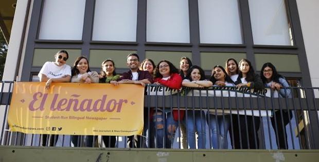 This semester's El Leñador crew. - PHOTO BY SAM ARMANINO