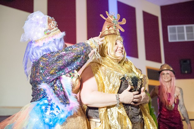 All hail Queen Empoweress Metalana, 2018 Rutabaga Queen. Long may she reign. - PHOTO BY MARK MCKENNA