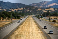 U.S. Highway 101 near Cloverdale. - PHOTO BY ADAM GROSSBERG