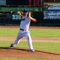 Crabs pitcher Alex Pham, en route to 11 strikeouts - MATT FILAR