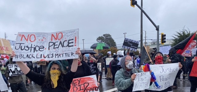 Black Lives Matter and George Floyd Protest Happening in Eureka (VIDEO)