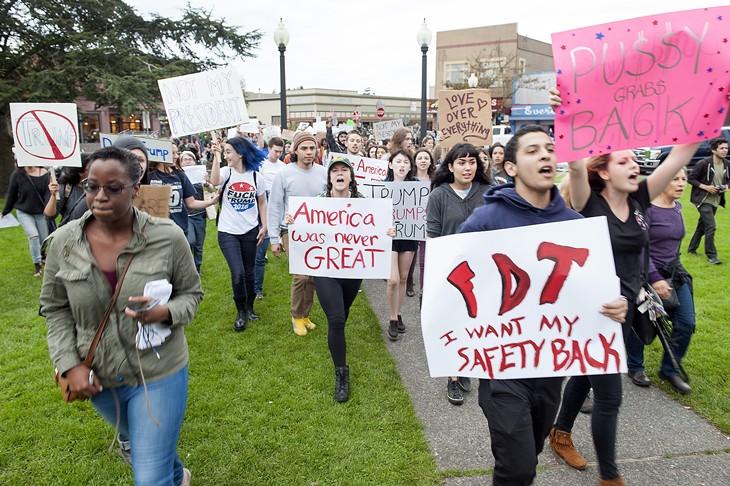 Anti-Trump Protest in Arcata