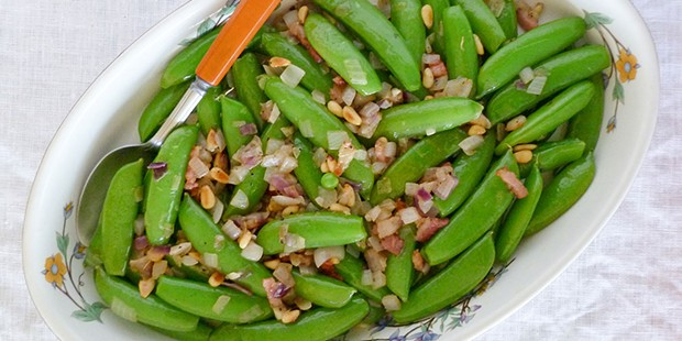 Sugar snap peas are the sweet taste of spring.