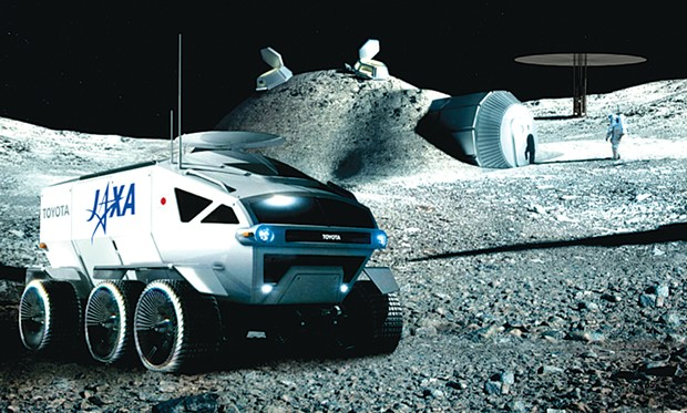 "Future moon missions will likely see pressurized vehicles, ""Hobbit-hole"" living quarters and spacesuits incorporating miniaturized nuclear power packs for electricity generation."