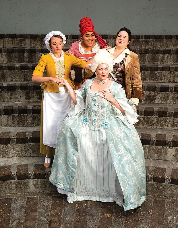 Clockwise: Holly Portman, Lakia Solomon, Alexandra Blouin and Kaitlyn Samuel Rosin in The Revolutionists.