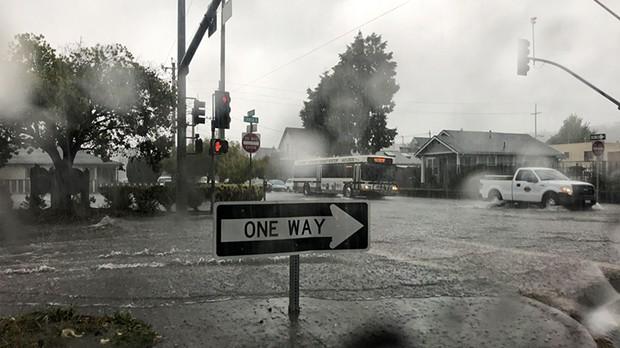 Arcata during a Sept. 18 downpour.