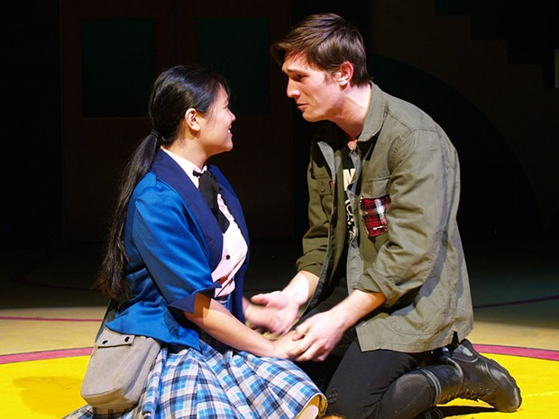 Gwynnevere Cristobal as Veronica and William English as J.D.
