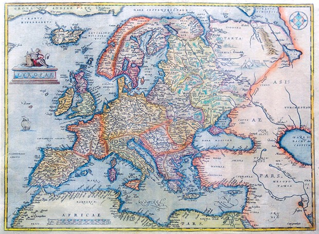 Compare Abraham Ortelius' 1570 map of Europe (here) with Robert Janvier's 1794 map, which used Cassini's tables of the eclipse times of Jupiter's moons to determine longitudes.
