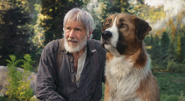 Don't feel bad talking to your dog. Harrison Ford crouched in the snow to talk to a dog they added later with CGI.