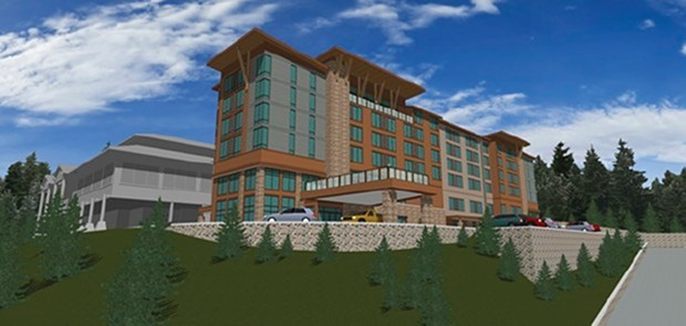 An artist's rendering of the hotel development.