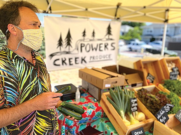 Trevor Guthrie at his Powers Creek Produce stand.
