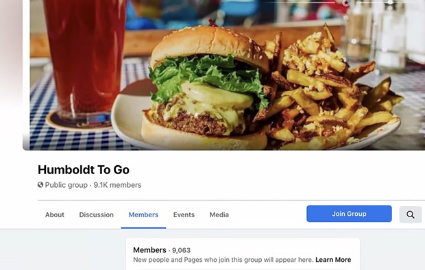 Screenshot of Humboldt To Go's Facebook page.
