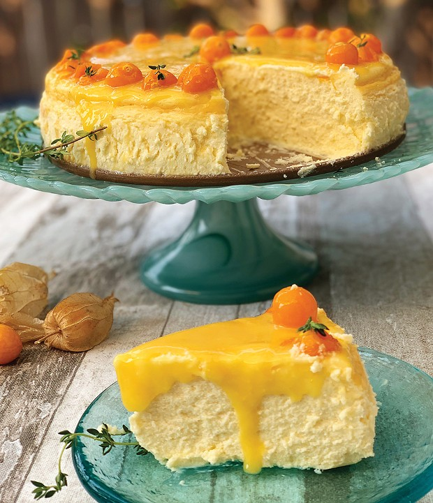 A fluffy crème frâiche cheesecake with a double tang of gooseberry.