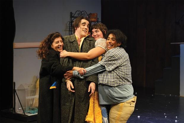 Julieta Garza, Nate FitzSimons, Laura Murillo Hart and Oscar Nava reunite as a happy family.