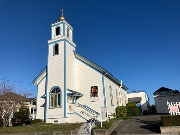 St. Innocent Orthodox Christian Church on Eureka's F Street.