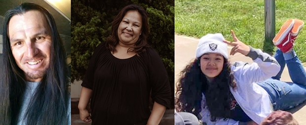 Nikki Dion Metcalf, Margarett Lee Moon and Shelly Autumn Mae Moon (left to right) were fatally shot the morning of Feb 10 in their home on the Bear River Band of the Rohnerville Rancheria Reservation, leaving a community in mourning.