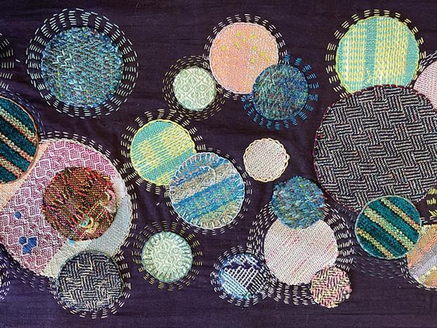 A detail of Carolyn Jones' Other Worlds weaving.