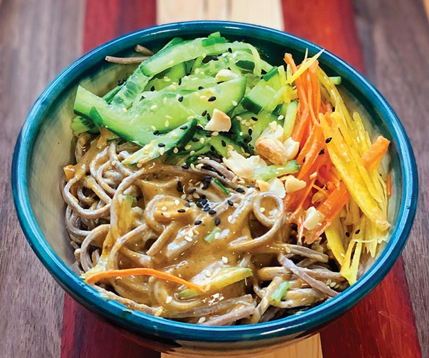 Cool sesame noodles with as much heat as you can handle.