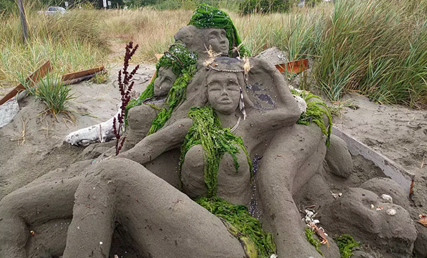 """2020 People's Choice: Built by Team Making Waves with their sculpture titled """"Siren's Song."""""""