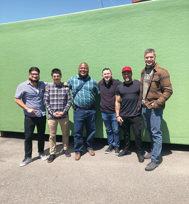 Panelists (from left to right) Roberto Gomez, Tony Wallin, Ray Watson, Joshua Bates, Tyler Parr and Humboldt County Sheriff William Honsal.