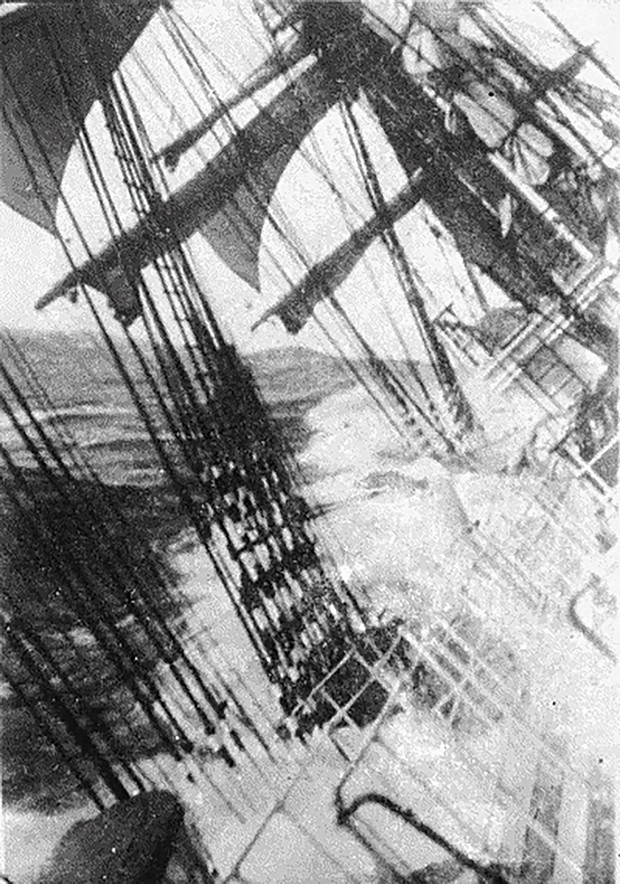 """Despite its uncertain provenance (it's dated """"between 1885 and 1954""""), this grainy photo by an unknown photographer says more about sailing round the Horn than any words."""