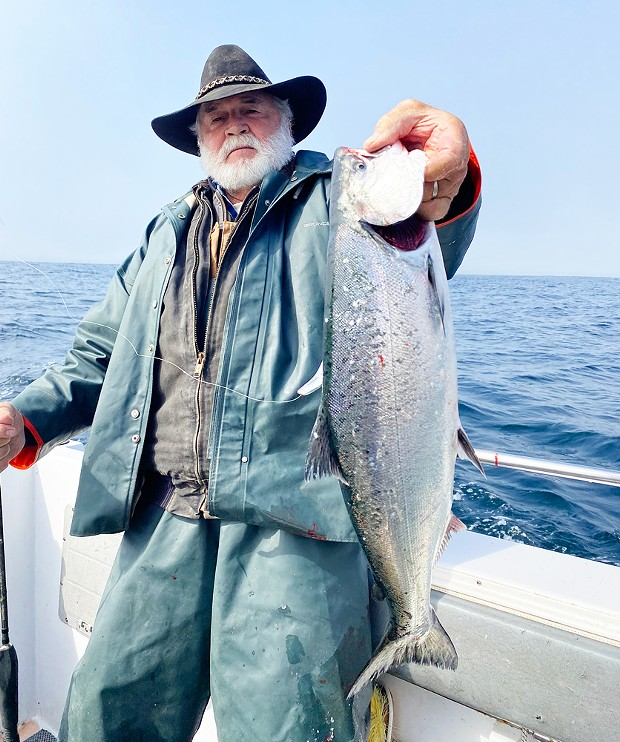 Laytonville resident Jack Kuykendall landed this nice king salmon while fishing out of Shelter Cove.