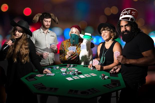 Left to right:  Julia Long, Thos Sullivan, Aimee Hennessy, Charlie, Gina Figueroa, Leo Ramos