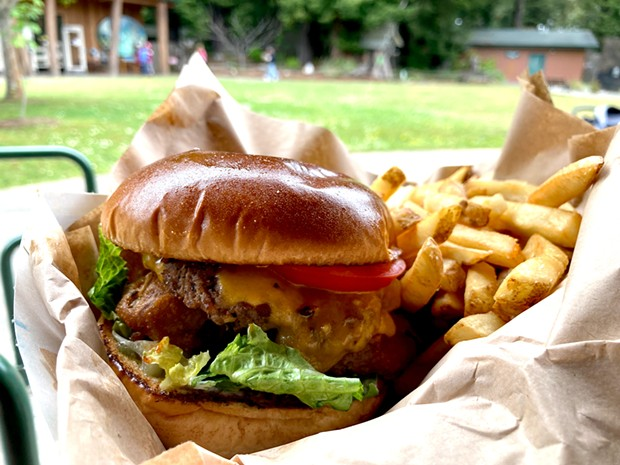 The Western Burger at the zoo's Ecos Café.