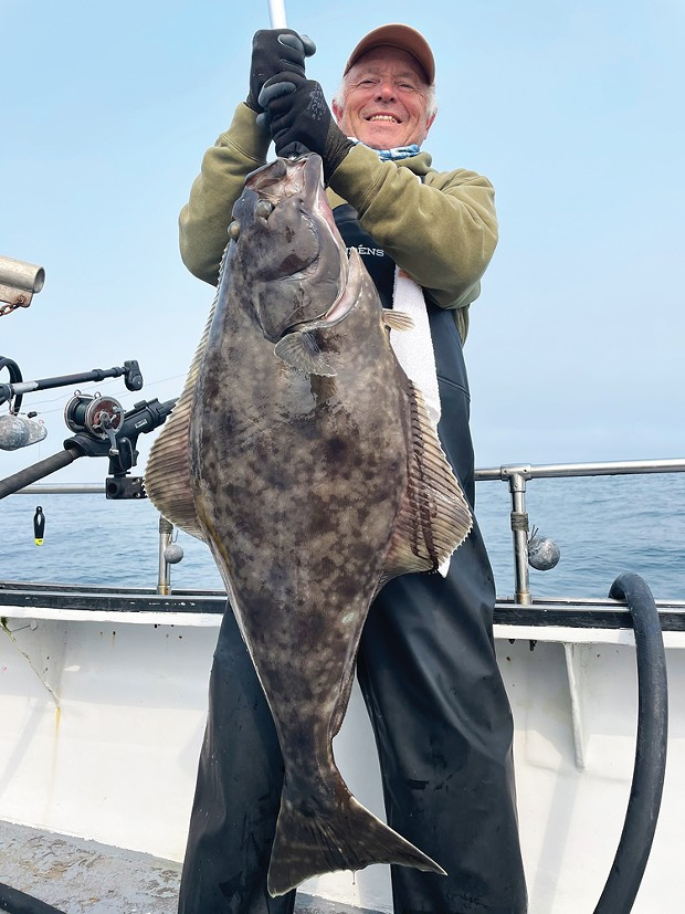 Menlo Park resident Craig Maynard landed a nice Pacific halibut over the weekend out of Trinidad. The halibut fishery opened back up Friday, Sept. 3